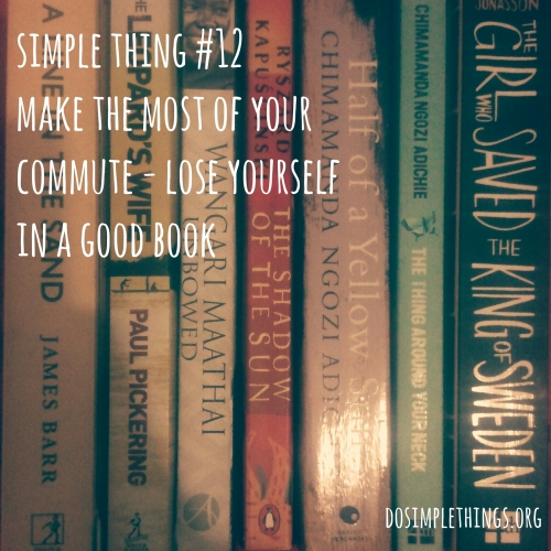Make the most of your commute - lose yourself in a good book