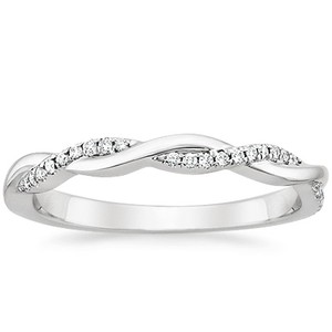 Ethically-sourced 18ct  twisted vine diamond ring.
