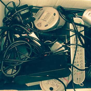 Recycle electronics; wires; cables; mouse; charger; recycle
