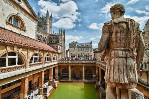 Bath's beautiful and best preserved Roman Baths in Europe. Photo by Treye Rice / Photography and Web Design