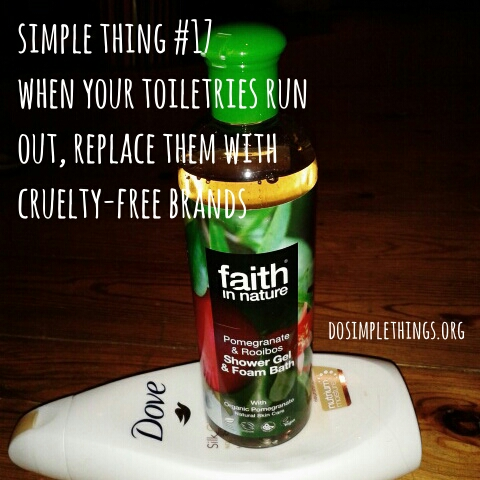 Simple Thing No.17-Replace toiletries with cruelty free brands