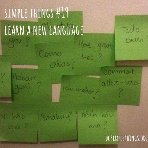 Simple Things; 19; Learn a new language; languages