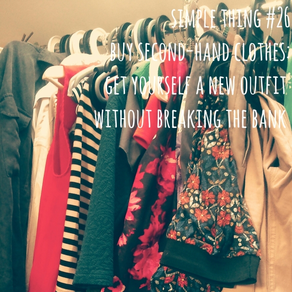 Simple Thing No.26-Second-hand clothes shopping